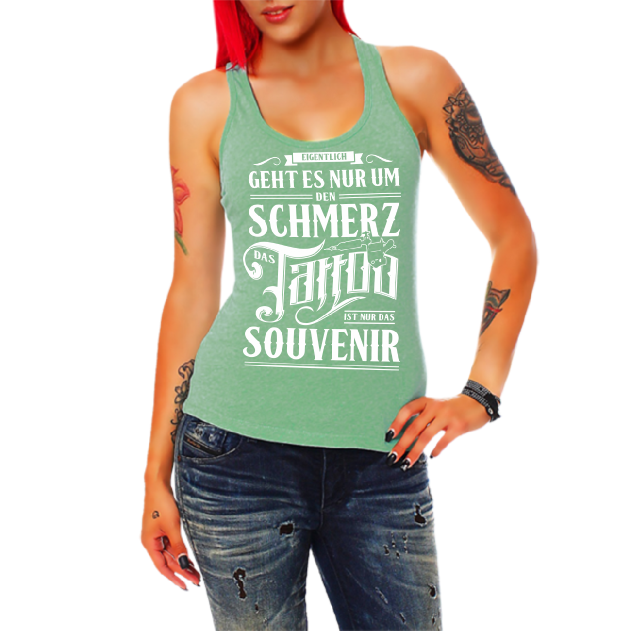 frauen girls tr gershirt top schmerz souvenir tattoos. Black Bedroom Furniture Sets. Home Design Ideas