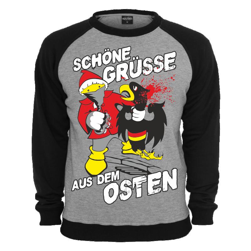 Pullover Schöne Grüsse aus dem Osten Ostdeutschland DDR schlagring ... a3884edb6c
