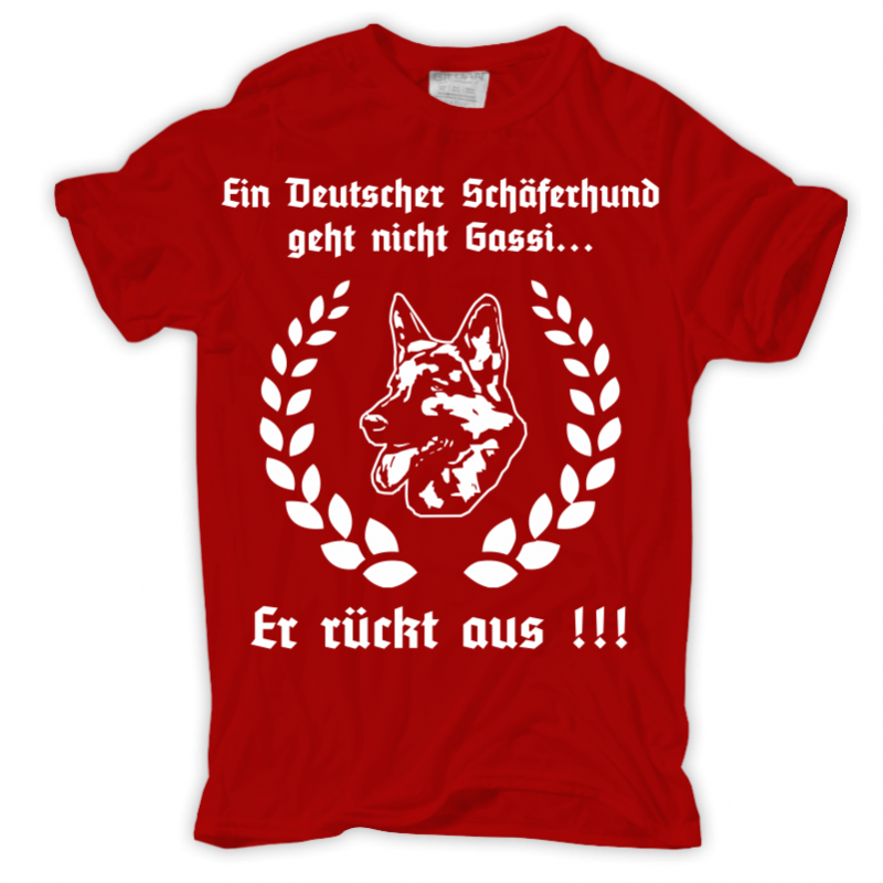 t shirt ein deutscher sch ferhund geht nicht gassi spass hund hunde spr che ebay. Black Bedroom Furniture Sets. Home Design Ideas