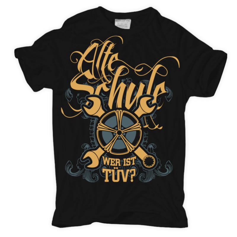 t shirt alte schule tuning auto werkstatt schrauber garage hot rod oldtimer ebay. Black Bedroom Furniture Sets. Home Design Ideas
