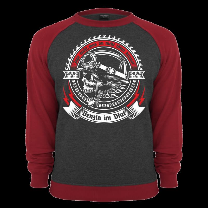 pullover sweatshirt benzin im blut rocker biker oldschool. Black Bedroom Furniture Sets. Home Design Ideas