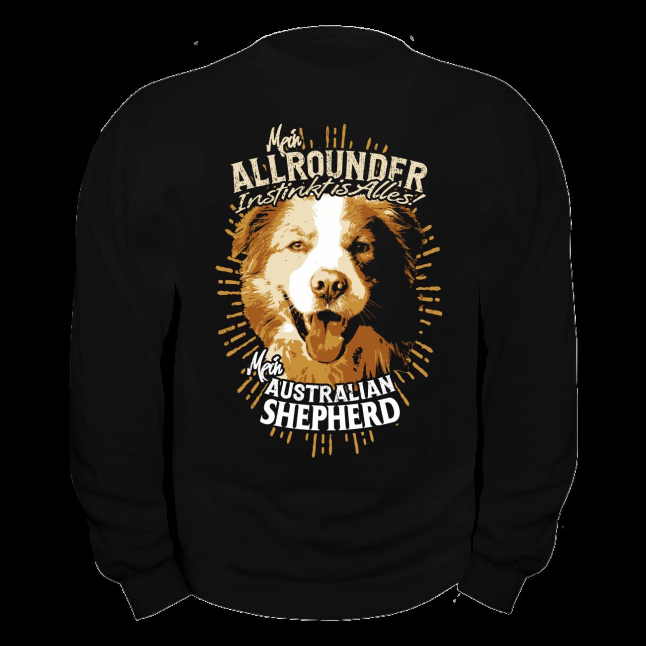 pullover sweatshirt australian shepherd hunde dogs rasse zucht z chter haustier ebay. Black Bedroom Furniture Sets. Home Design Ideas