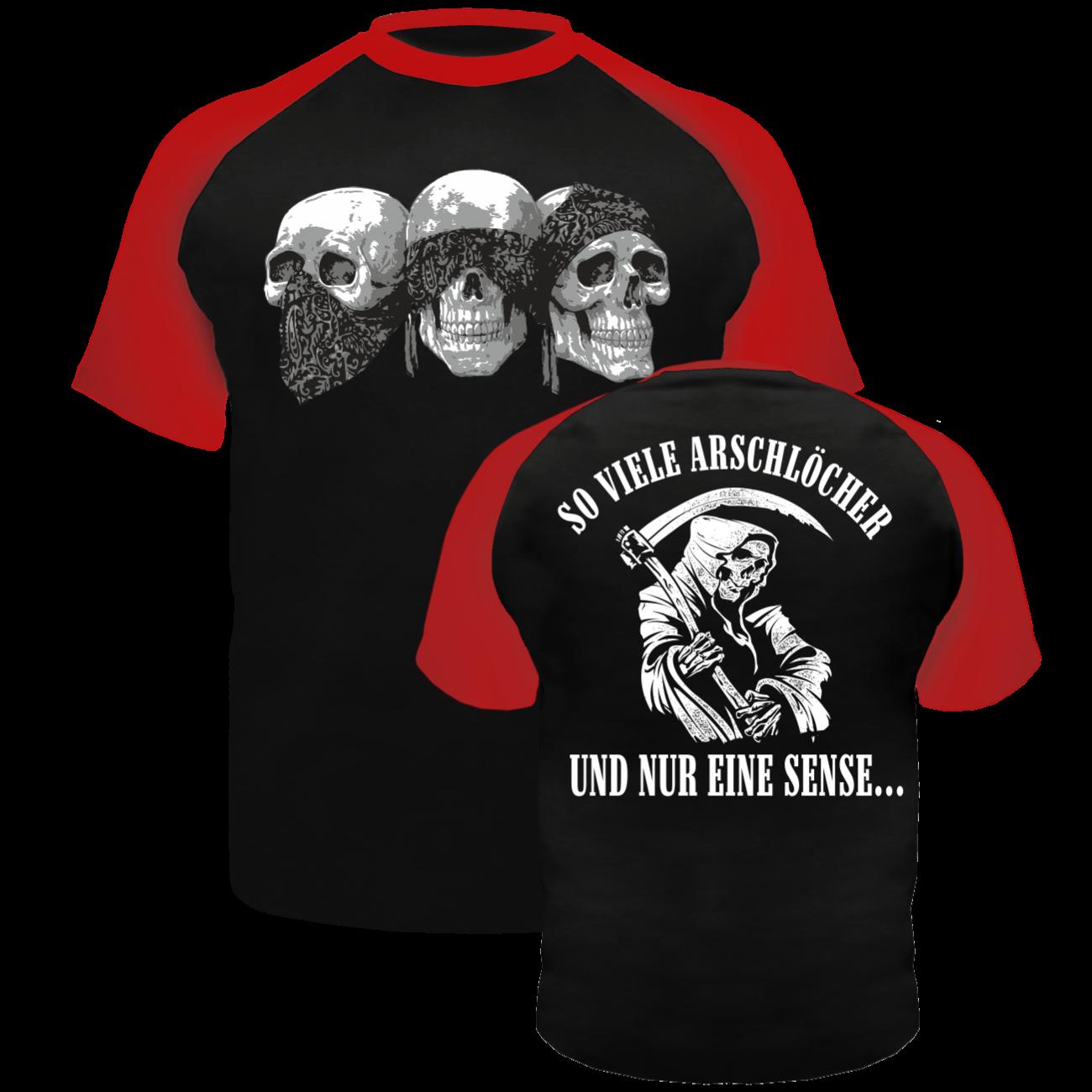 t-shirt so viele arschlöcher und nur eine sense sprüche spruch