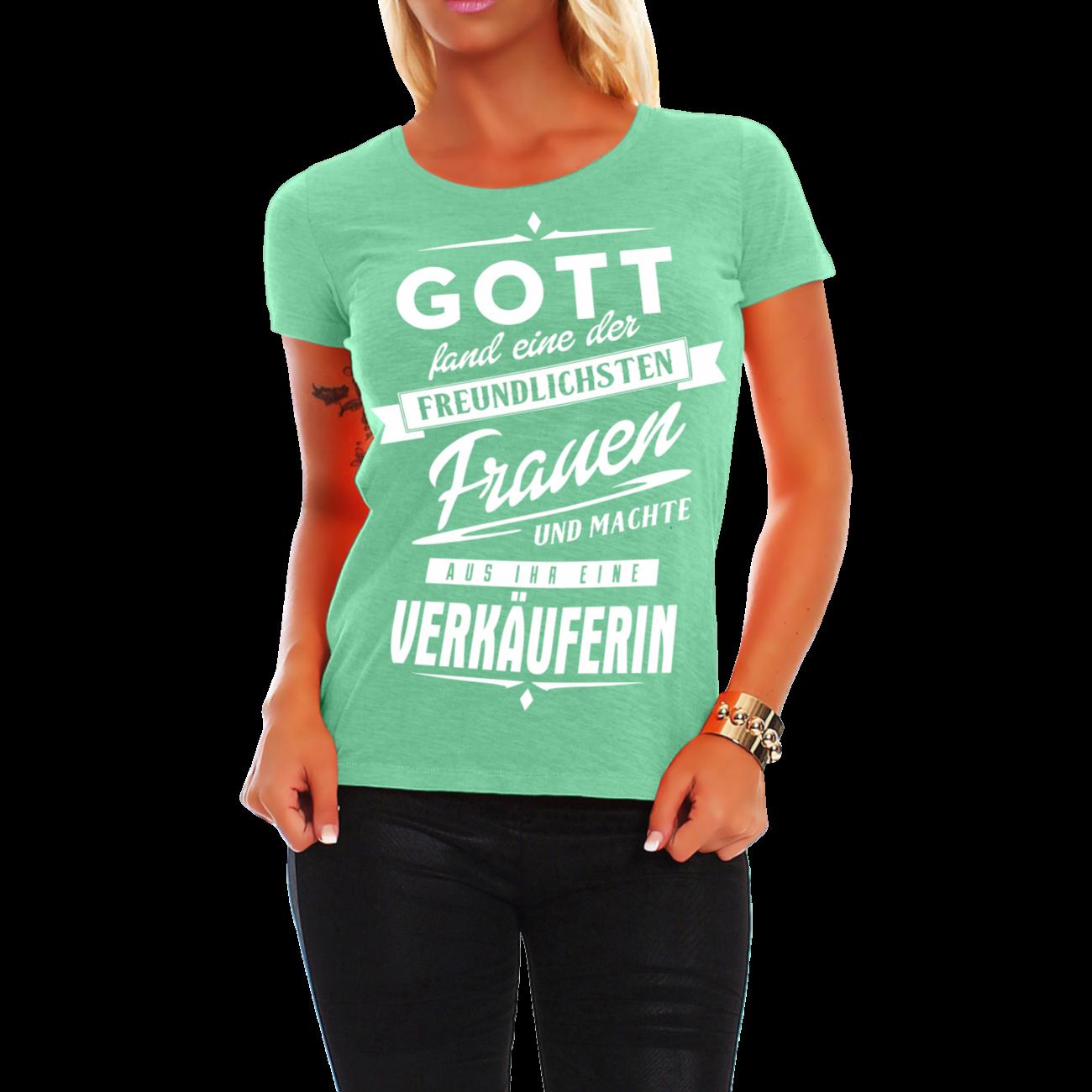 frauen mädchen damen t-shirt verkäuferin einzelhandelskauffrau