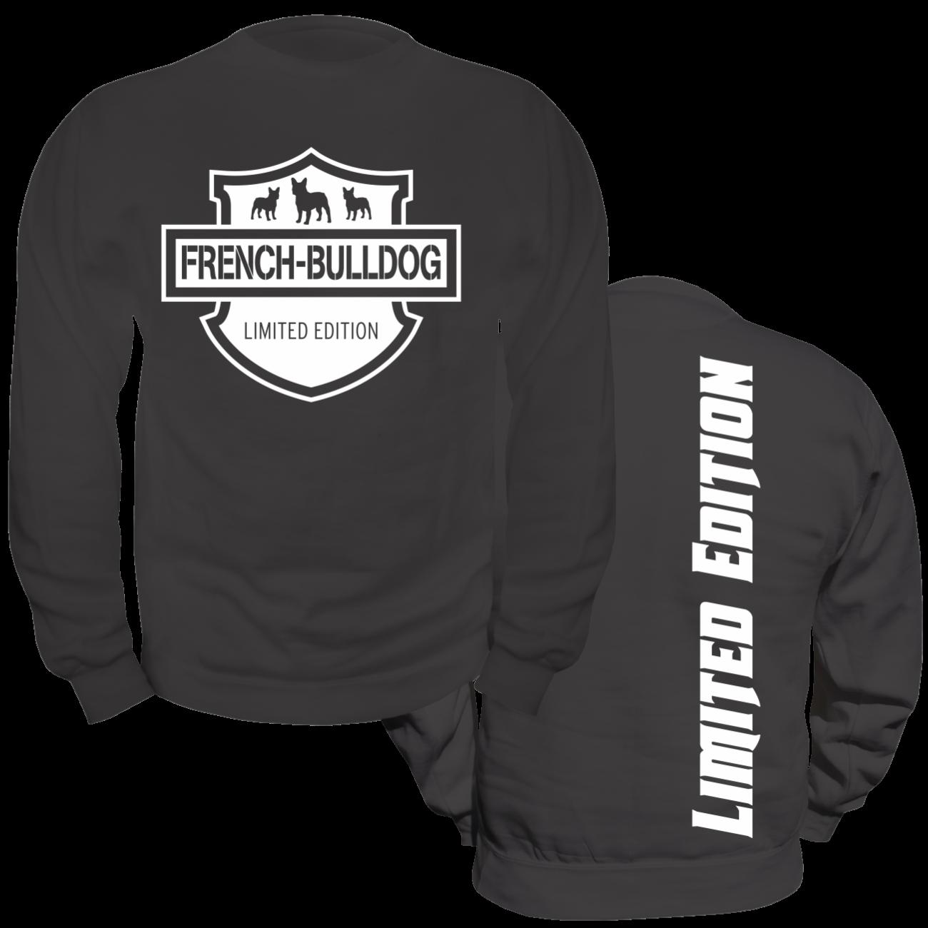 pullover sweatshirt french bulldog limited edition. Black Bedroom Furniture Sets. Home Design Ideas