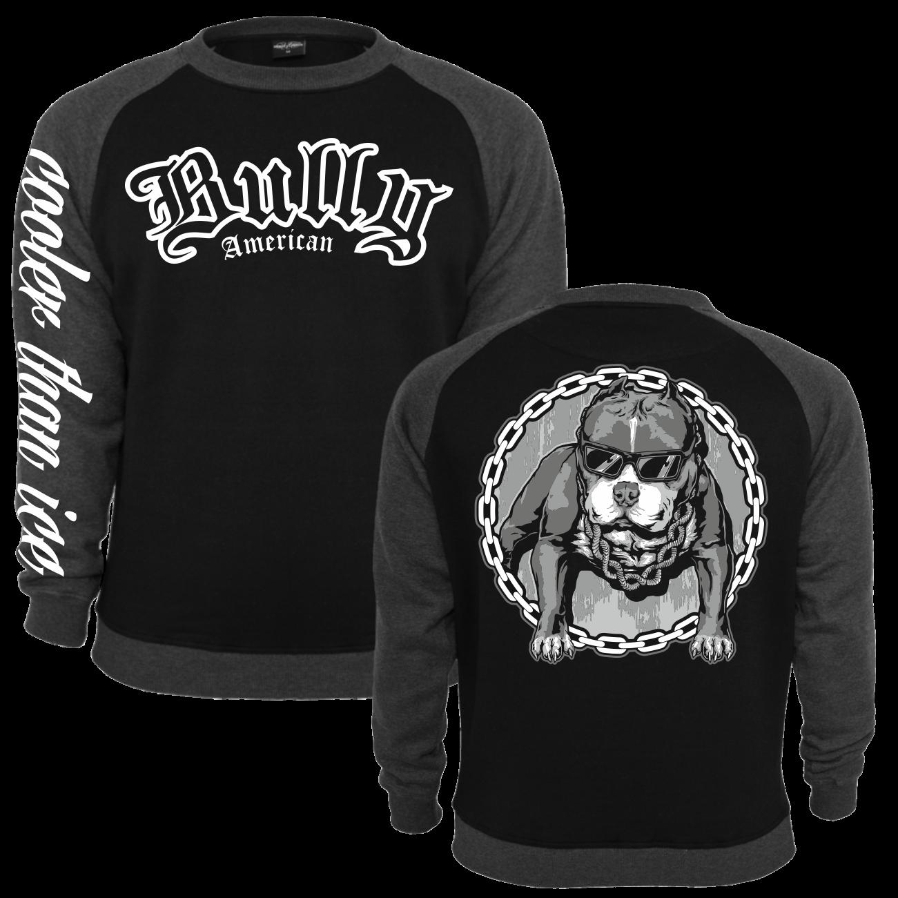 pullover sweatshirt american bully cool summer bulldog bullies hunde rasse zucht ebay. Black Bedroom Furniture Sets. Home Design Ideas