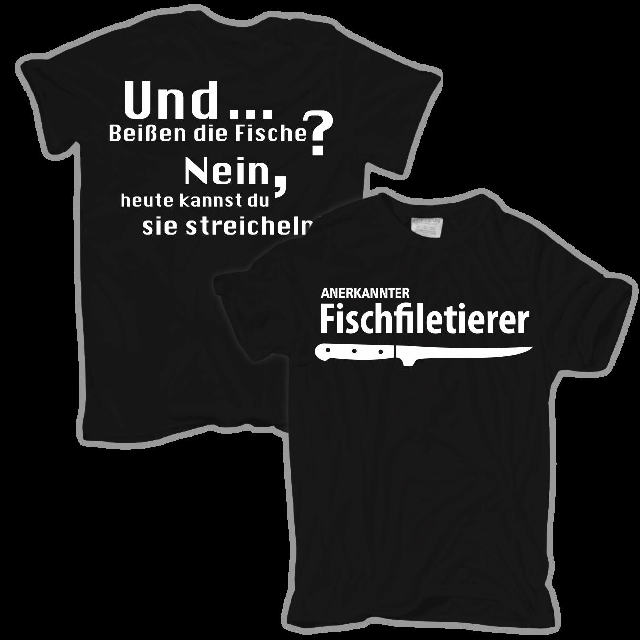 Angler Sprüche T Shirt Fischfiletierer Angeln Angler Petri Heil Fischer Spruch  Sprüche Lustig Ebay