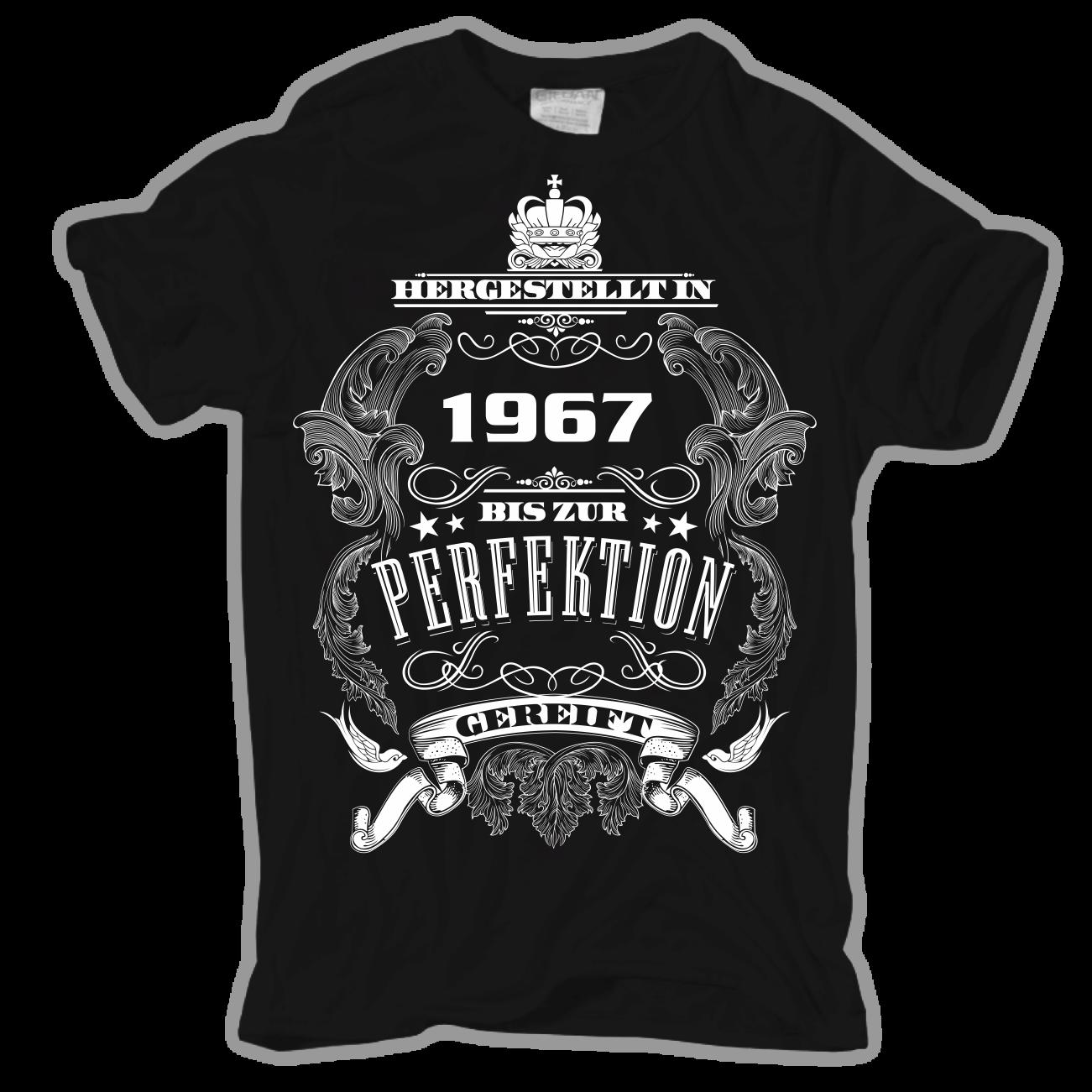 t-shirt bis perfektion gereift 1967 geschenk geburtstag 50