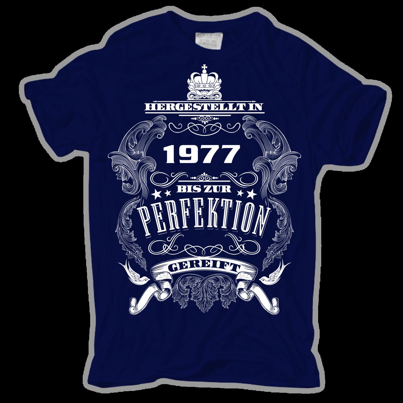 t-shirt bis zur perfektion gereift 1977 kult spruch geschenk 40