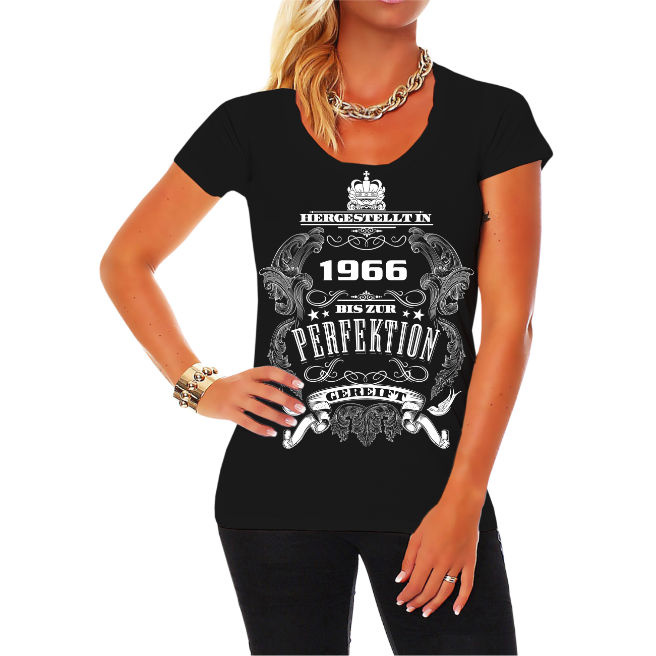 frauen t-shirt bis zur perfektion gereift 1966 geschenk 50