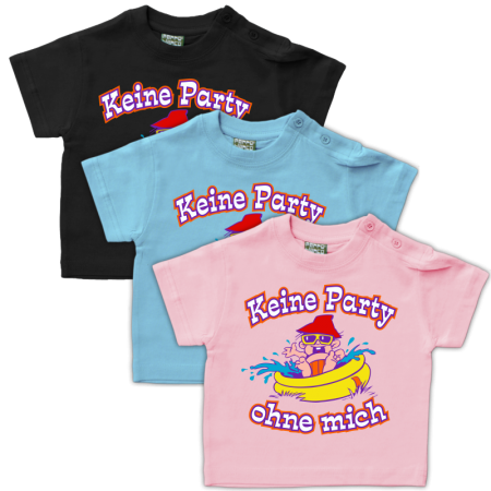 Baby Shirt Keine Party ohne mich