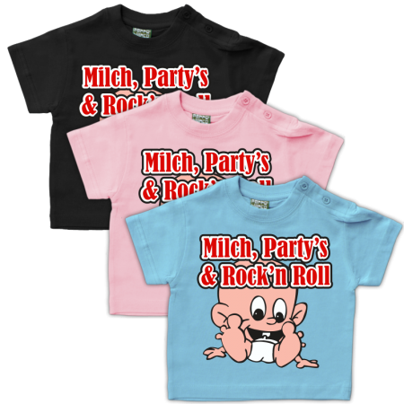 Baby Shirt Milch Partys Rock'n Roll