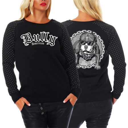 Frauen Sweatshirt CROSS American Bully COOL SUMMER