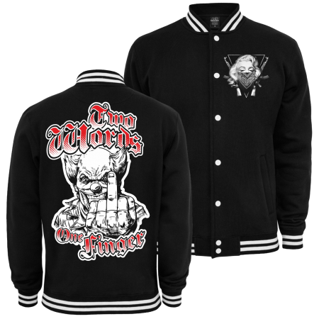 Baseballjacke Two Words One Finger CLOWN