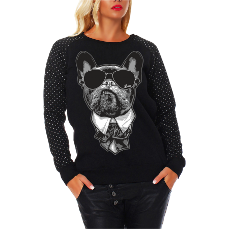 Frauen Sweatshirt CROSS French Bulldog CHEF