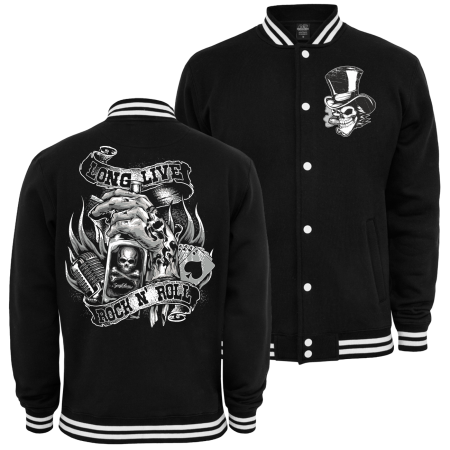 Baseballjacke Long Live ROCK N ROLL