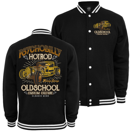 Baseballjacke Psychobilly Hot Rod