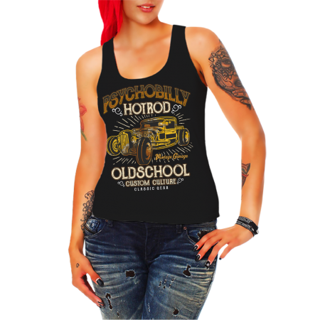Mädels Trägershirt Psychobilly Hot Rod
