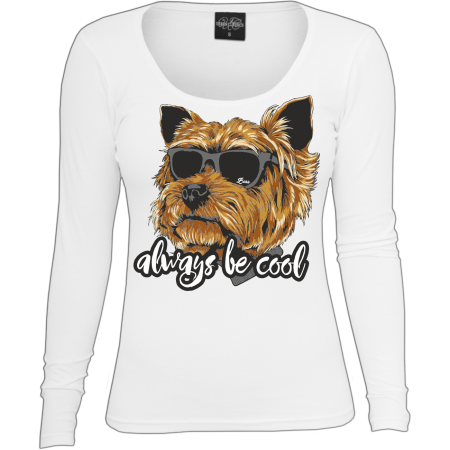 Mädels Langarm Yorkshire Terrier always be cool