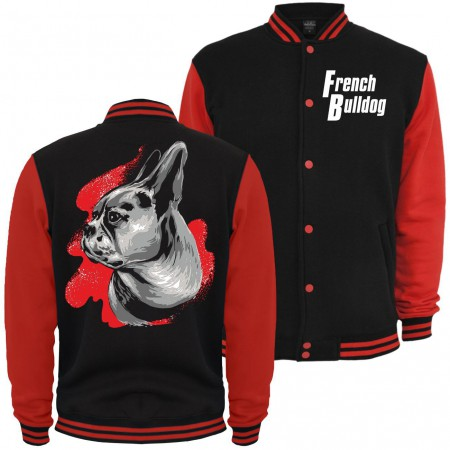 Baseballjacke French Bulldog Painting
