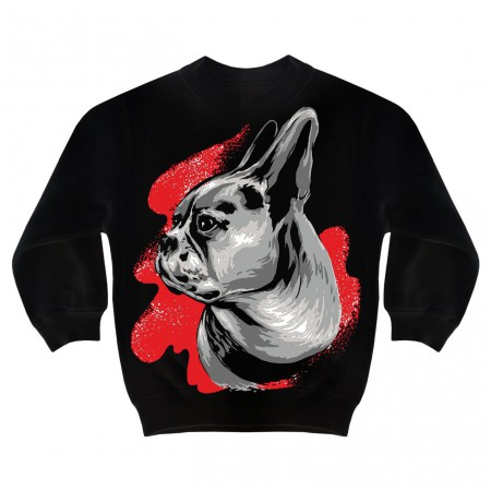 Kinderpullover French Bulldog Painting