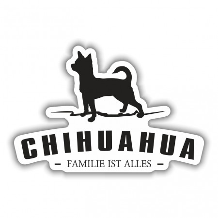 Aufkleber Chihuahua Silhouette