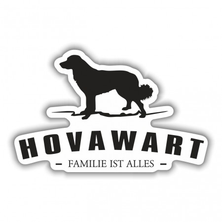 Aufkleber Hovawart Silhouette
