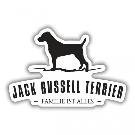 Aufkleber Jack Russell Terrier Silhouette