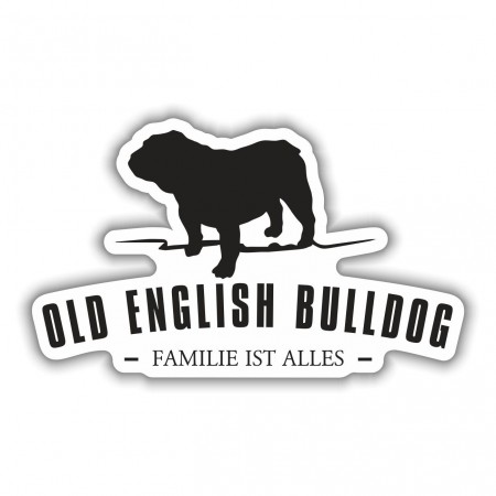 Aufkleber Old English Bulldog Silhouette