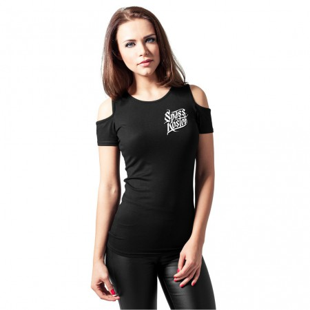 Frauen Spass kostet Cutted Shoulder Tee