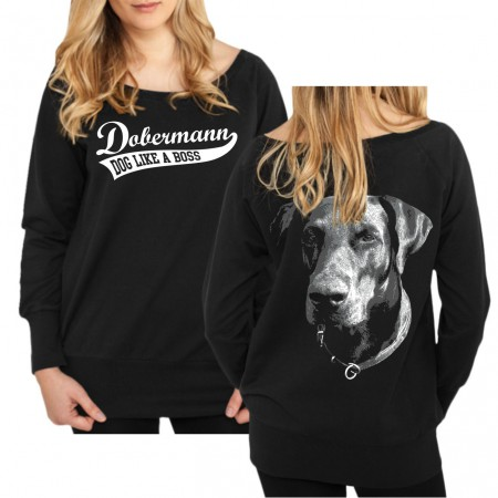 Mädels Sweatshirt Dobermann UNKUPIERT BOSS
