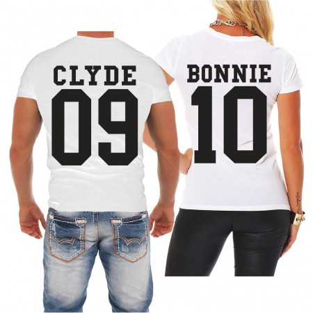 Partnershirt Bonnie & Clyde BLACK