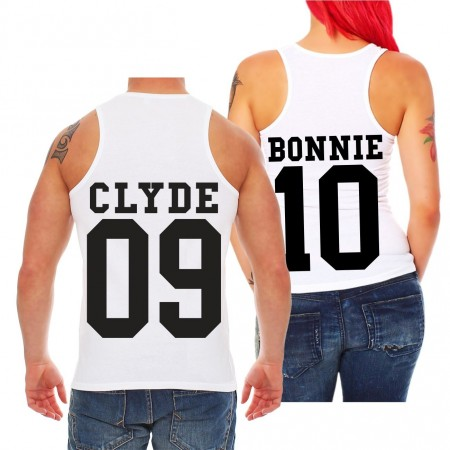 Partner Trägershirt Bonnie & Clyde BLACK